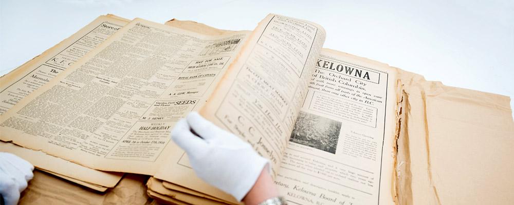 Kelowna History book in Museum