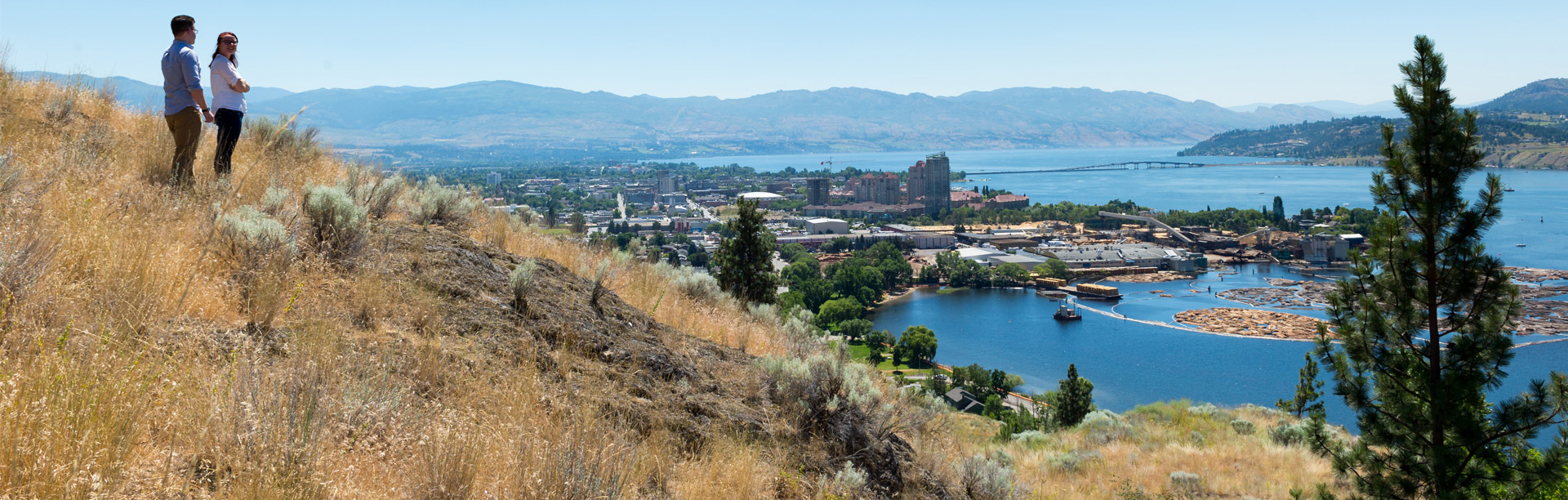 View over downtown Kelowna