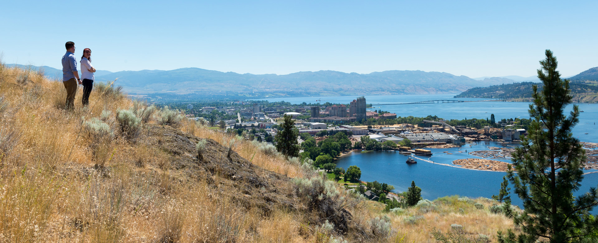 Overlooking Downtown Kelowna